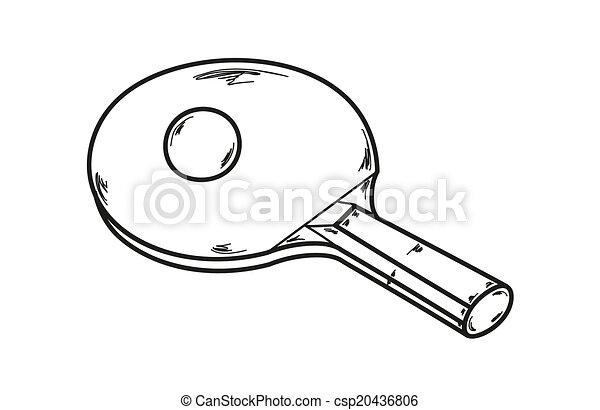 Clipart vecteur de raquette pong ping une vecteur - Choisir sa raquette de tennis de table ...