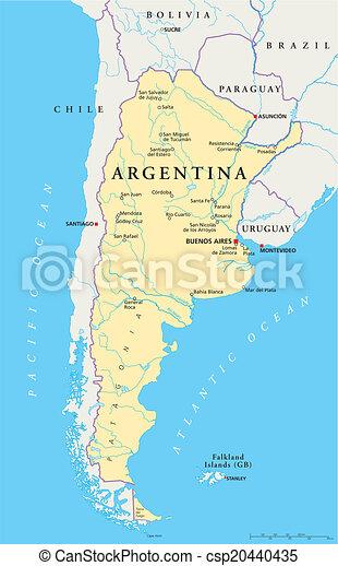 有关阿根廷, 政治, 地图