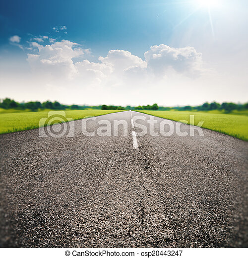 Country road, abstract transportation and travel backgrounds - csp20443247