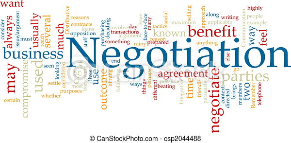 Negotiation word cloud - csp2044488