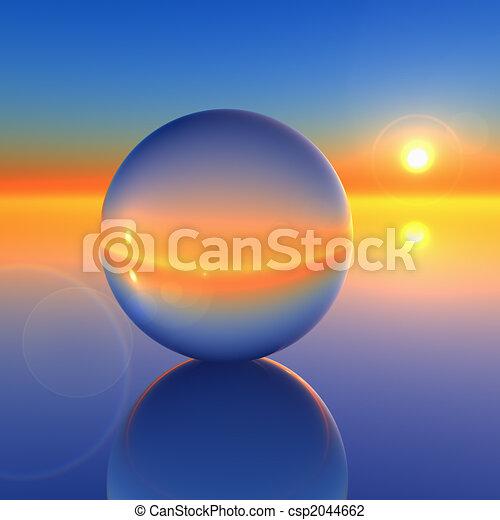 Abstract Crystal Ball on Future Horizon - csp2044662