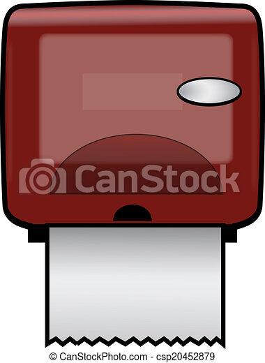 Vectors Illustration Of Paper Towel Dispenser Plastic