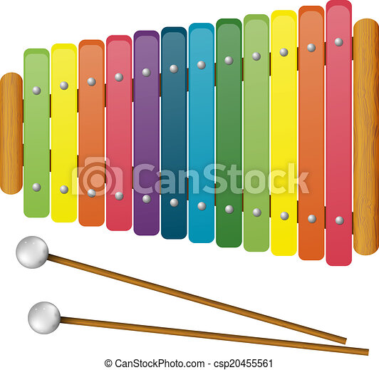 Clip Art Vector of Children's Musical Instruments - toy ...