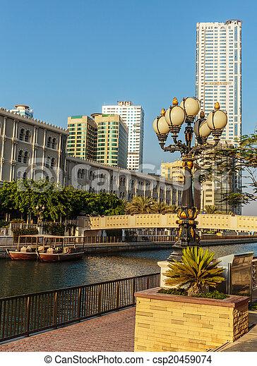 Modern buildings in Sharjah - csp20459074