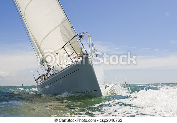 Sail Boat Up Close - csp2046762