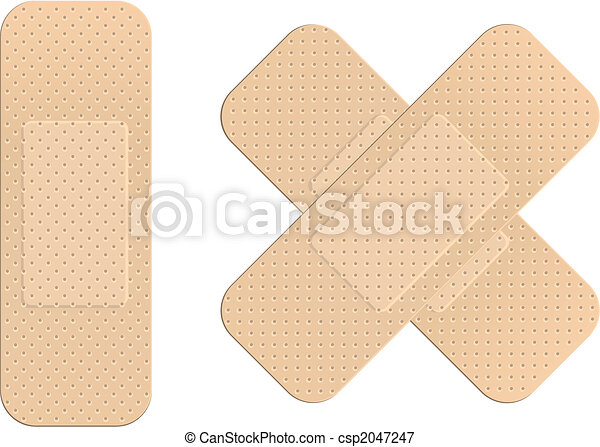First aid plasters - csp2047247