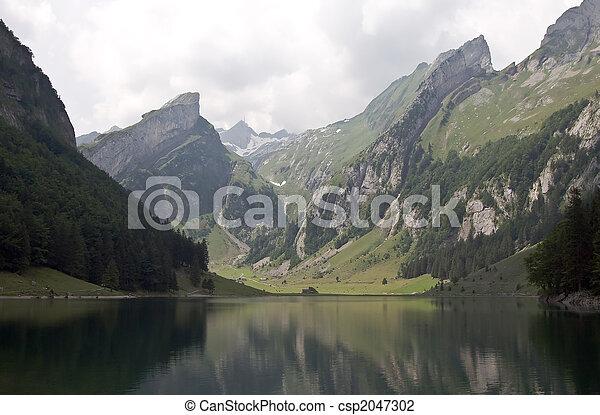 Alpine lake - csp2047302