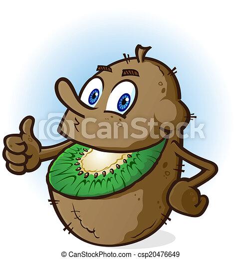 Kiwi Cartoon Drawing Kiwi Fruit Cartoon Character