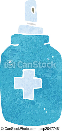 cartoon antiseptic spray - csp20477481