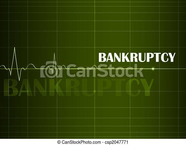 Bankruptcy Cardiogram - csp2047771