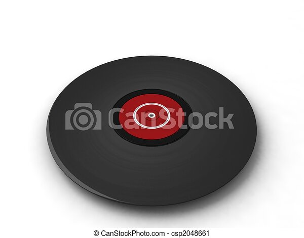three dimensional black turntable - csp2048661