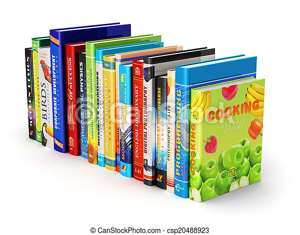Color hardcover books - csp20488923