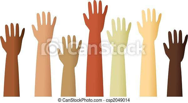 raised hands - csp2049014