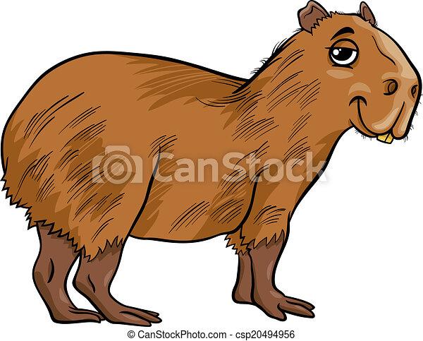 Clipart vettoriali di cartone animato capybara - Animale cartone animato immagini gratis ...