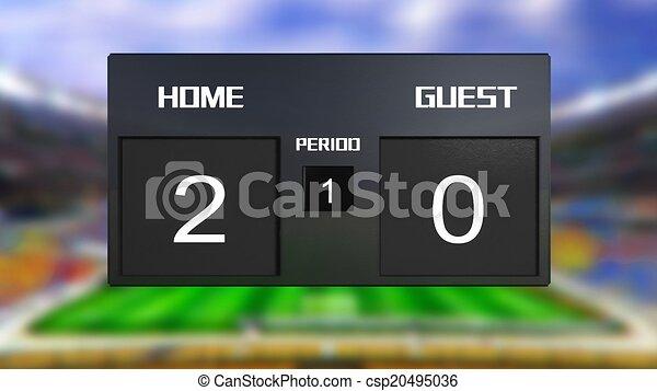 Scoreboard Home Soccer Match Scoreboard Home