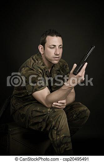 militär, spansk - csp20495491