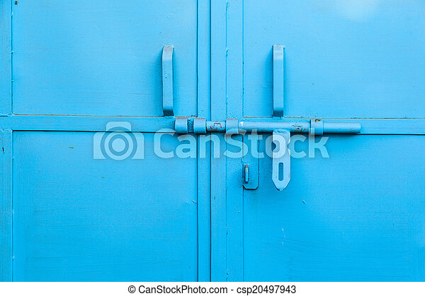 blue iron gate