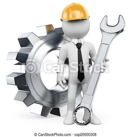 3D white people. Mechanical Engineer - csp20500308
