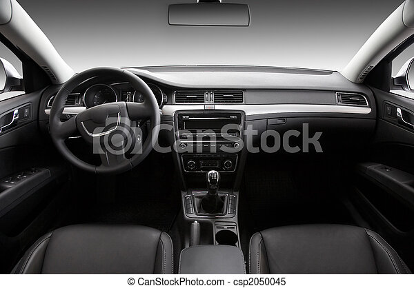 View of the interior of a modern automobile - csp2050045