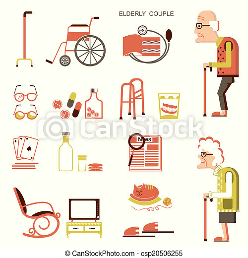 Elderly people and objects for life - csp20506255