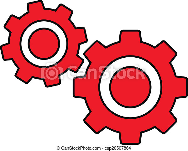 Clip Art Vector of Settings icon. - Settings icon on white ...