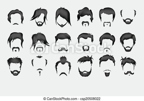 Beard Drawings Mustache Beard Men Retro
