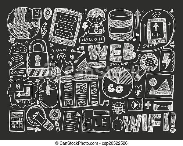 doodle internet background - csp20522526