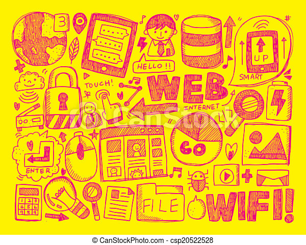 doodle internet background - csp20522528
