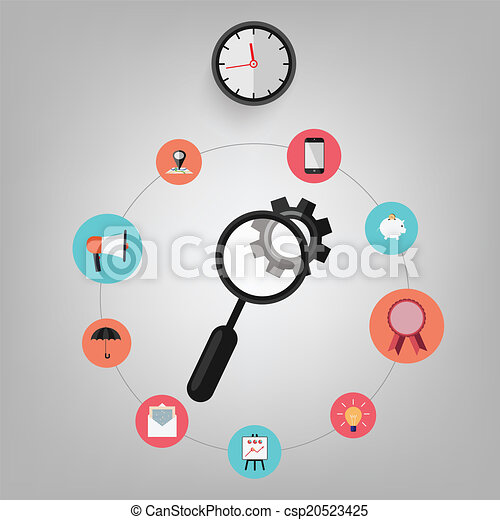 Business office elements icons vect - csp20523425