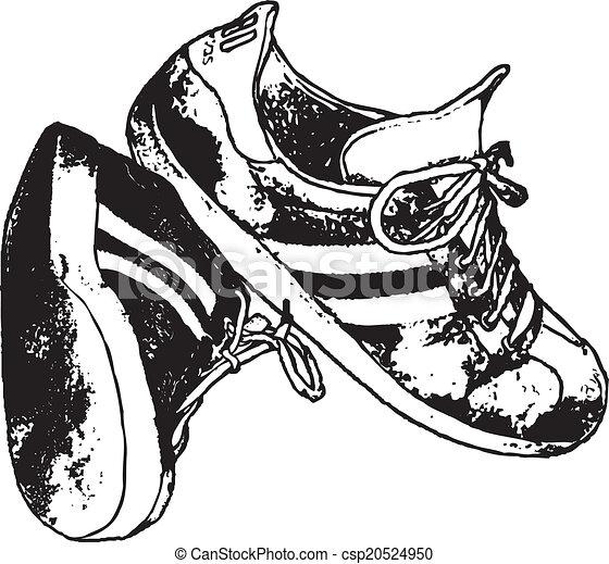Adidas Running Shoe Line Drawing