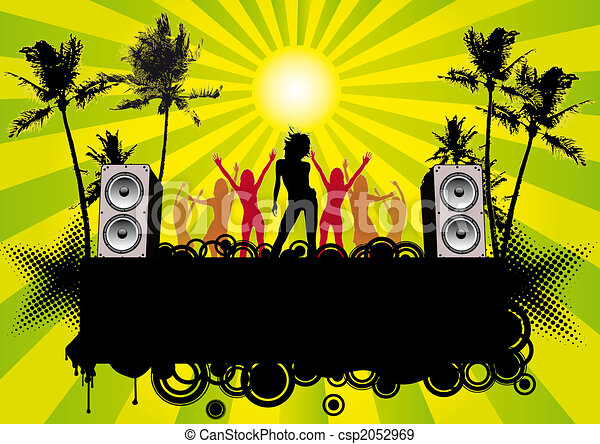 Stock Illustration Of Beachparty Ibiza Flier Or Poster