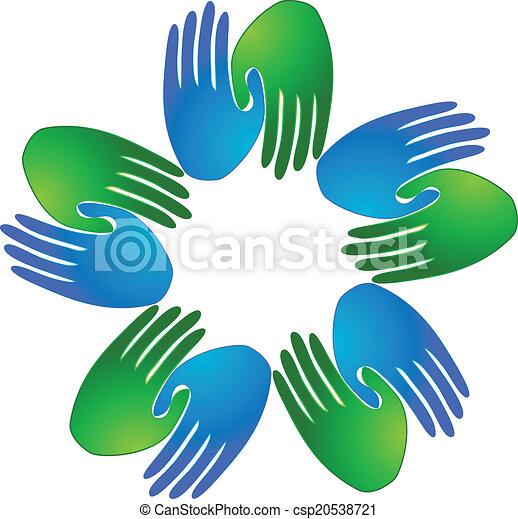 Business Team Logo Handshaking Business Team Logo