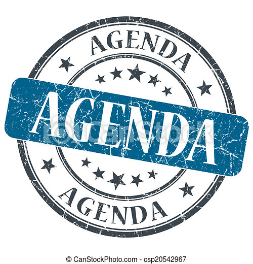 Stock Illustration Of Agenda Blue Grunge Textured Vintage
