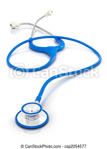 Blue Stethoscope - Isolated - csp2054577