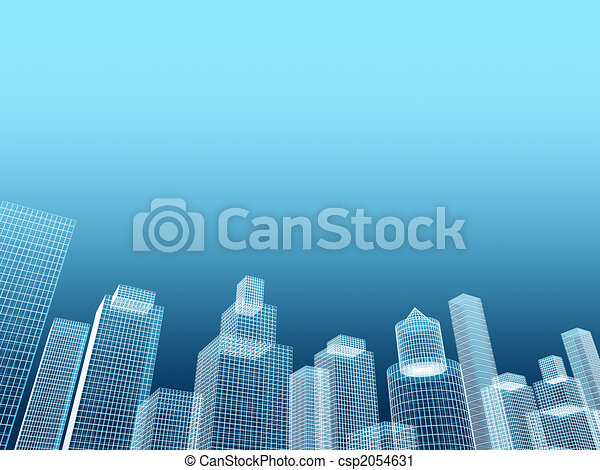 corporate building real estate illustration - csp2054631