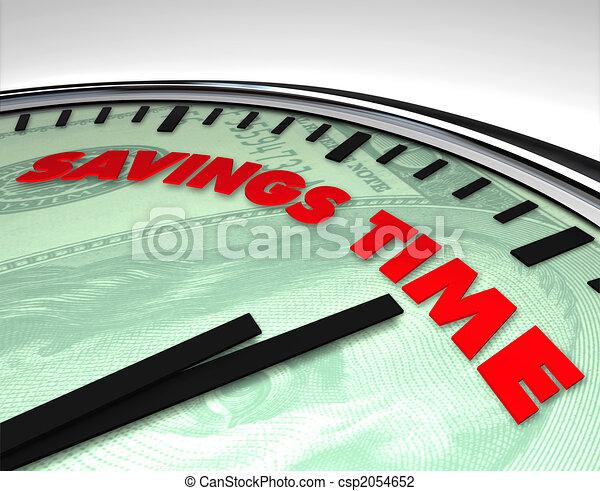 Savings Time - Clock - csp2054652