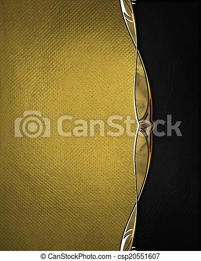 stock illustration von getrennt gold trimmen standort schwarz hintergrund csp20551607. Black Bedroom Furniture Sets. Home Design Ideas
