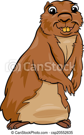 gopher animal cartoon illustration - csp20552635