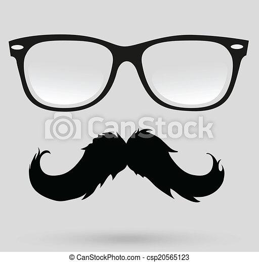 Illustration vecteur de coiffure moustache hipster - Dessin de moustache ...
