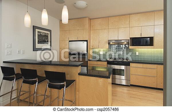 Modern contemporary kitchen - csp2057486