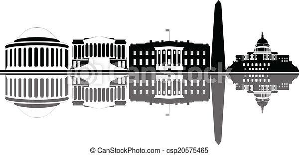 Washington dc City Logo Vector Washington dc City