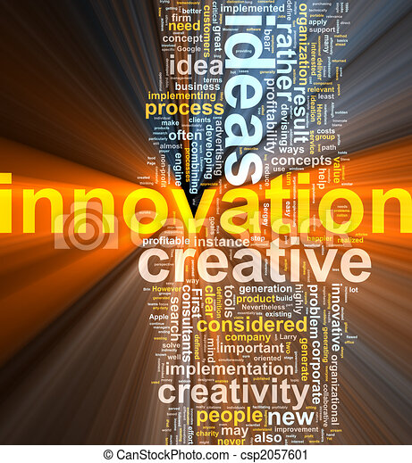 Innovation word cloud glowing - csp2057601