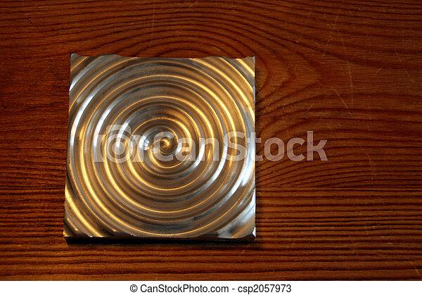 Labyrinth, aluminium circle - csp2057973