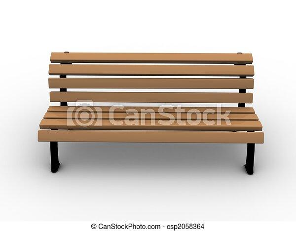 dessin de banc 3d banc endroit public vide bois csp2058364 recherchez des illustrations. Black Bedroom Furniture Sets. Home Design Ideas