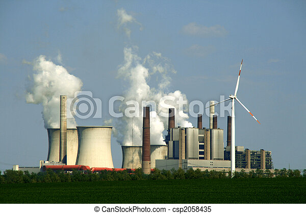 coal-burning power plant - csp2058435