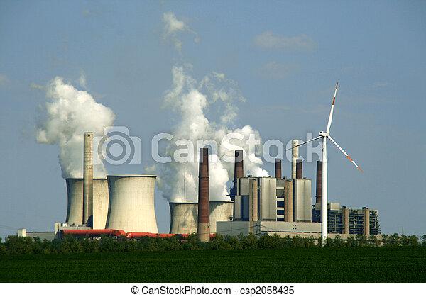 coal-burning power plant - csp2058435