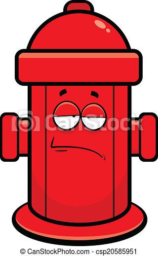 Clip Art Fire Hydrant Clipart cartoon fire hydrant clipart bkmn vector of tired illustration 288 x 470