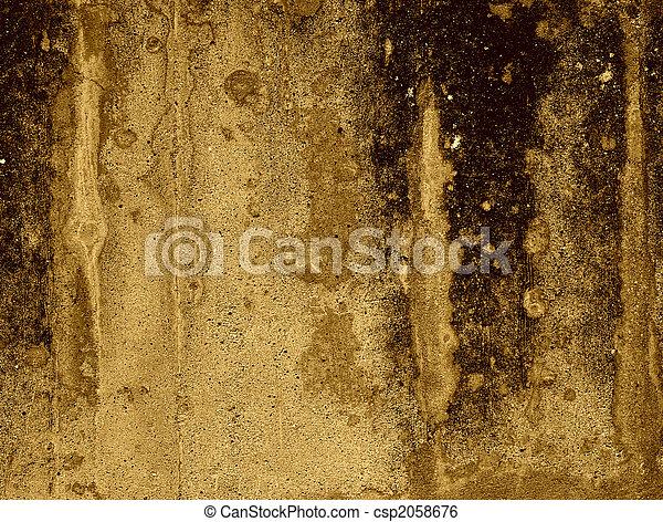 Dark grunge concrete wall - csp2058676
