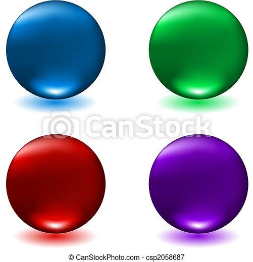 Glossy spheres - csp2058687