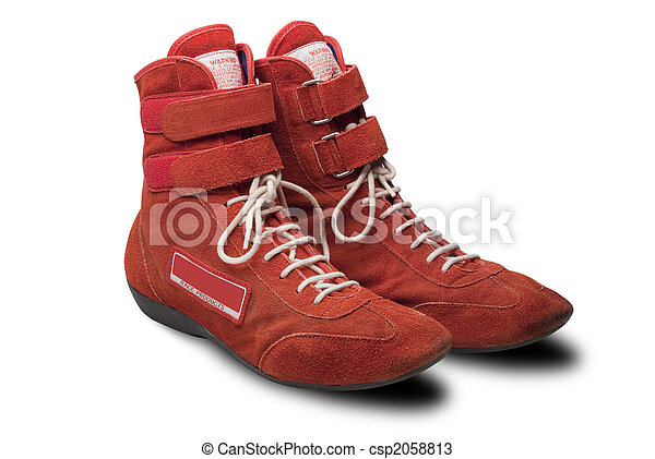 Automobile racing shoes isolated - csp2058813